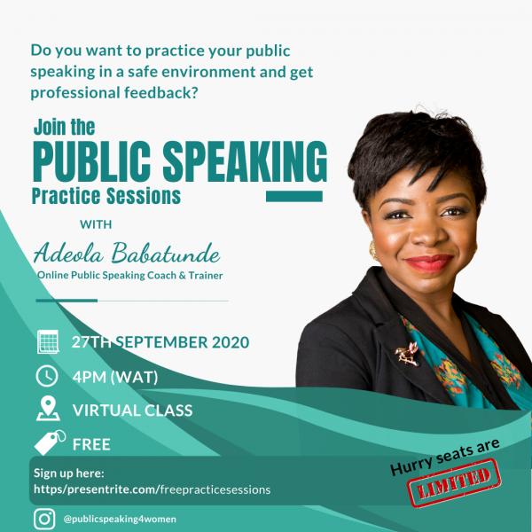 Free Public Speaking Practice Session